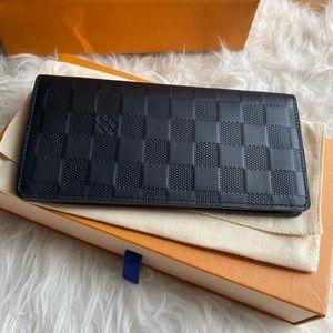 Louis Vuitton Brazza Wallet, Demier Infini Leather